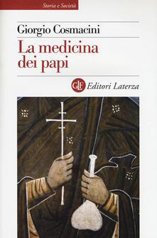 La medicina dei papi - Giorgio Cosmacini - copertina
