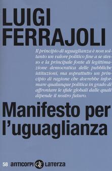 Manifesto per l'uguaglianza - Luigi Ferrajoli - copertina