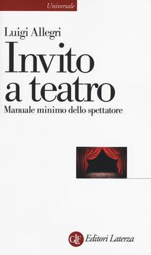 Antondemarirreguera.es Invito a teatro. Manuale minimo dello spettatore Image