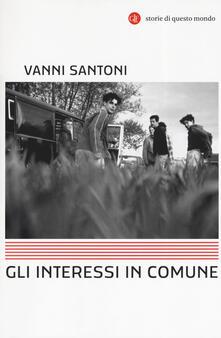 Gli interessi in comune - Vanni Santoni - copertina