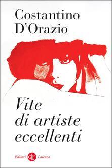 Vite di artiste eccellenti - Costantino D'Orazio - copertina