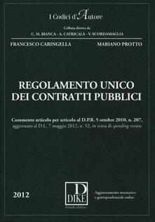 Regolamento unico dei contratti pubblici. Con aggiornamento online