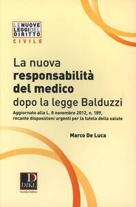 La nuova responsabilità del medico dopo la legge Balduzzi