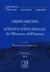 Ordinamento e attività istituzionali del ministero dell'interno