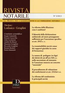 Equilibrifestival.it Rivista notarile (2013). Vol. 3 Image