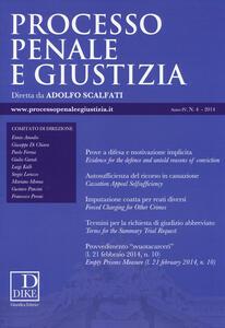 Processo penale e giustizia (2014). Vol. 4