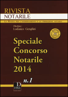 Squillogame.it Rivista notarile (2014). Speciale concorso notarile. Vol. 1 Image