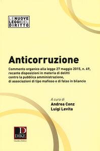 Foto Cover di Anticorruzione, Libro di  edito da Dike Giuridica Editrice