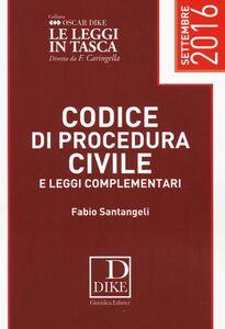 Libro Codice di procedura civile e leggi complementari Fabio Santangeli