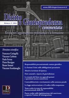 Mercatinidinataletorino.it Diritto e giurisprudenza commentata (2016). Vol. 5 Image