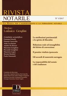 Grandtoureventi.it Rivista notarile (2017). Vol. 1 Image