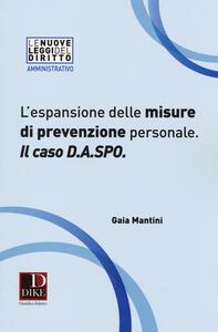 L' espansione delle misure di prevenzione personale. Il caso D.A.SPO.