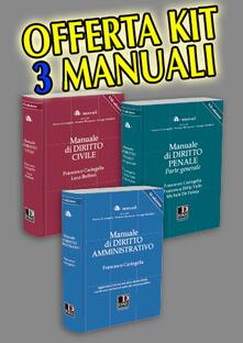Antondemarirreguera.es Kit tre manuali: diritto civile-penale generale-amministrativo Image