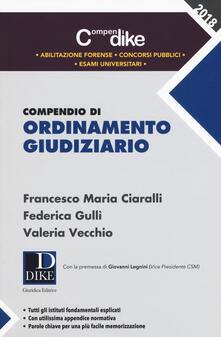Librisulrazzismo.it Compendio di ordinamento giudiziario Image