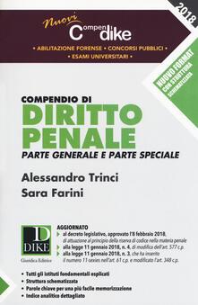 Compendio di diritto penale. Parte generale e parte speciale. Minor - Alessandro Trinci,Sara Farini - copertina