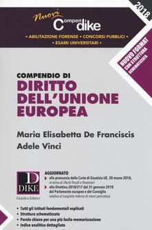 Voluntariadobaleares2014.es Compendio di diritto dell'Unione Europea Image