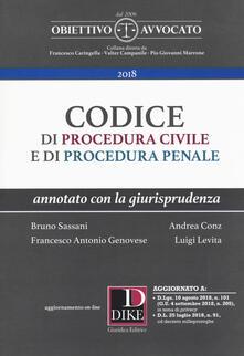 Squillogame.it Codice di procedura civile e di procedura penale. Annotato con la giurisprudenza. Con espansione online Image