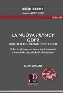 Steamcon.it La nuova privacy GDPR dopo il D. lgs. 10 agosto 2018, n.101. Guida teorico-pratica con schemi riassuntivi e formulario dei principali adempimenti Image