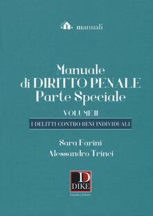 Daddyswing.es Manuale di diritto penale. Parte speciale. Vol. 2: delitti contro beni individuali, I. Image