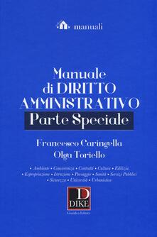 Vitalitart.it Manuale di diritto amministrativo. Parte speciale Image