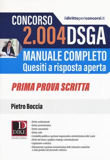 Steamcon.it Concorso 2004 DSGA. Manuale completo. Quesiti a risposta aperta. Prima prova scritta Image