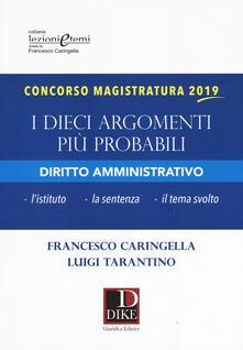 Milanospringparade.it Concorso magistratura 2019. I dieci argomenti più probabili di diritto amministrativo Image