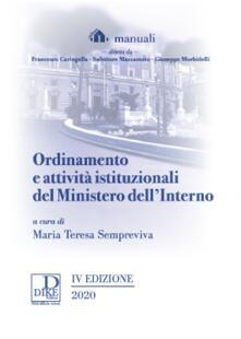Ordinamento e attività istituzionali del Ministero dellinterno.pdf
