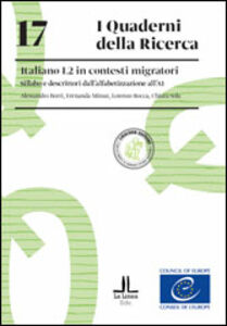 Foto Cover di Italiano L2 in contesti migratori. Sillabo e descrittori dall'alfabetizzazione all'A1, Libro di  edito da Loescher