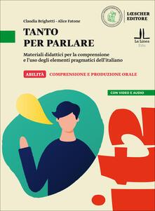 Festivalpatudocanario.es Tanto per parlare. Materiali didattici per la comprensione e l'uso degli elementi pragmatici dell'italiano (A2-B1) Image