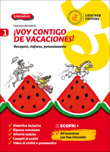 Voluntariadobaleares2014.es ¡Voy contigo de vacaciones! Recupero, rinforzo, potenziamento. Per la Scuola media. Vol. 1 Image