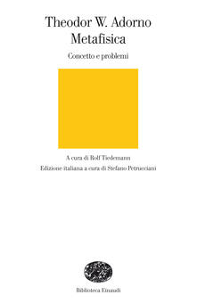 Metafisica. Concetto e problemi - Luigi Garzone,S. Petrucciani,Theodor W. Adorno,Rolf Tiedemann - ebook