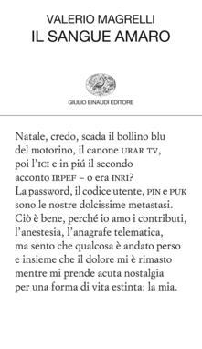 Il sangue amaro - Valerio Magrelli - ebook