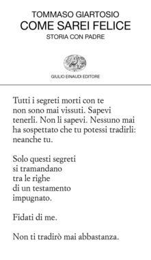 Come sarei felice. Storia con padre - Tommaso Giartosio - ebook