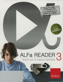 Radiospeed.it ALFa Reader 3 plus. (KIT: libro e chiavetta USB). Ausilio per la lettura facilitata. Lettore vocale Image