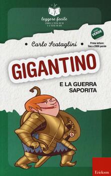 Librisulladiversita.it Gigantino e la guerra saporita. Con quaderno operativo Image