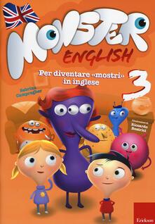 Listadelpopolo.it Monster english. Per diventare «mostri» in inglese. Con adesivi. Vol. 3 Image