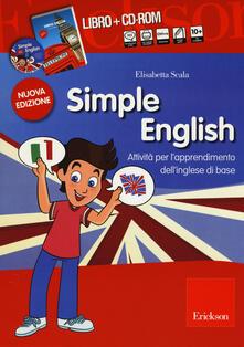 Adiaphora.it Simple English. Attività per l'apprendimento dell'inglese di base. Kit. Con CD Audio. Con CD-ROM Image