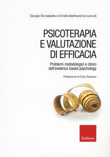 Psicoterapia e valutazione di efficacia. Problemi metodologici e clinici dell'«evidence based psychology» - copertina