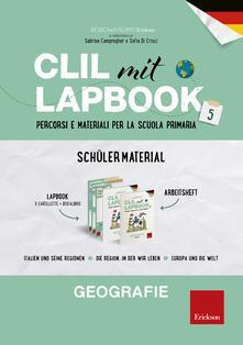 Writersfactory.it CLIL mit Lapbook. Geografie. Quinta. Schülermaterial. Per la Scuola elementare Image