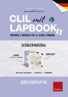 CLIL mit Lapbook 3. Geografie. Lehrermaterial. Per la Scuola primaria - copertina