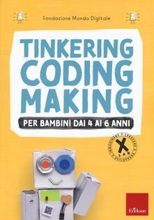 Tinkering coding making per bambini dai 4 ai 6 anni - copertina