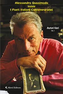Alessandro Quasimodo legge i poeti italiani contemporanei. Con CD-Audio. Vol. 1 - copertina