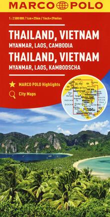 Thailandia, Vietnam. Myanmar, Laos, Cambogia 1:2.500.000. Ediz. multilingue - copertina