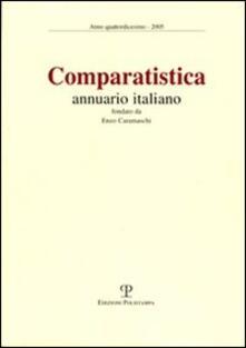 Comparatistica. Annuario italiano 2005 - copertina