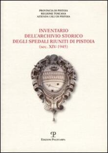 Inventario dell'Archivio storico degli Spedali Riuniti di Pistoia - copertina