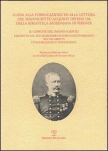 Guida alla pubblicazione ed alla lettura del manoscritto Acquisti diversi 158 della Biblioteca Moreniana di Firenze - Raffaella Marconi Abati,Giuliana Righi - copertina