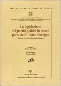 La legislazione sui partiti politici in alcuni paesi dell'Unione Europea
