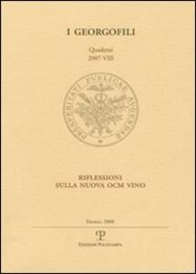 Riflessioni sulla nuova OCM vino