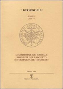 Secchiarapita.it Micotossine nei cereali. Risultati del progetto interregionale «Micocer» Image