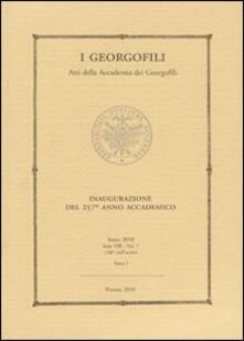 Winniearcher.com I Georgofili. Atti della Accademia dei Georgofili. Vol. 7\1: Inaugurazione del 257° anno accademico. Image